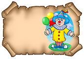 Party invitation with clown