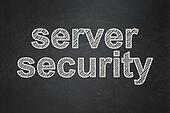 Security concept: Server Security on chalkboard background