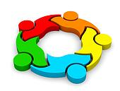 3D Icon Teamwork Support 5. Group o
