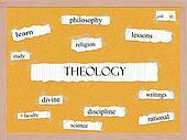 Theology Corkboard Word Concept