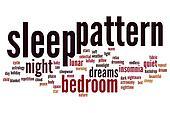 Sleep pattern word cloud