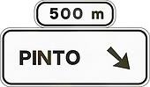 Road sign used in Spain - Direction sign