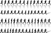 Business Man Frame Sequence Loops Run & Power Walk