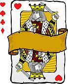 Playing card style king illustration