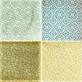 Collection of vintage wallpaper pattern textures