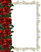 Red Roses Border invitation
