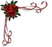 Red Roses Border invitation
