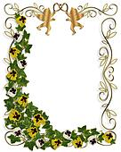 Ivy and Pansies Floral Border