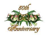 50th Anniversary Calla Lilies
