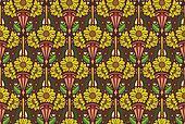 sunflowers wallpaper, brown