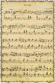 fragment of sheet with music