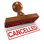 3d Cancelled rubber stamp