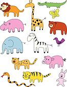 Animal doodle collection