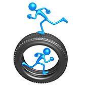 Teamwork Tire Runners