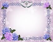 Wedding invitation Blue and Lavender