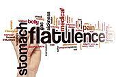 Flatulence word cloud concept