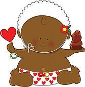 Baby Valentines Black