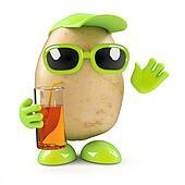 3d Potato at a party