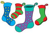 Various Christmas socks