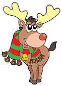 Smiling Christmas elk