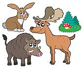 Forest animals collection 1
