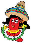 Cute Mexican chilli girl
