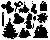 Christmas silhouette collection 02