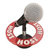 Host Microphone Program Show Discussion Presenter MC Speaker