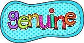 Genuine Stitch Text Label