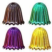isolated shiny decorative colored bells