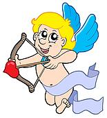 Cute cupid with bow
