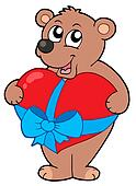 Valentine bear with heart