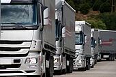 Silver trucks