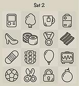 Outline Icons Set 2