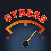 Stress Gauge Means Indicator Dial And Pressure
