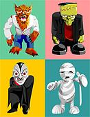 four classic horror characters