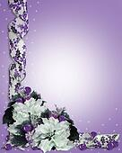 Christmas Floral Border Purple