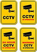 24 hour CCTV in operation signs