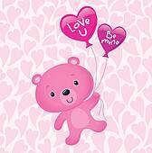 Pink Valentine's Day Bear