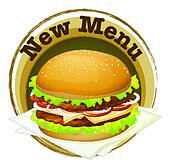 A new menu label with a big burger