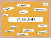 Sales Lead Corkboard Word Concept