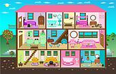 Cute Digital Doll House