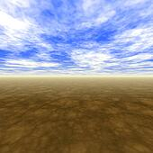Blue Skies With Horizon