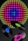 Disco Ball and Records