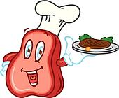 cartoon meat