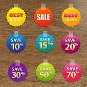 Big Colorful Sale Tags