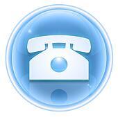 phone icon ice, isolated on white background.