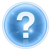 question symbol icon ice, isolated on white background