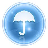 Umbrella icon ice, isolated on white background