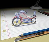 Sketch your dream (motorcycle)